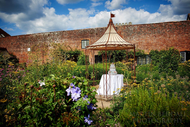 Wedding cake at walled garden cowdray