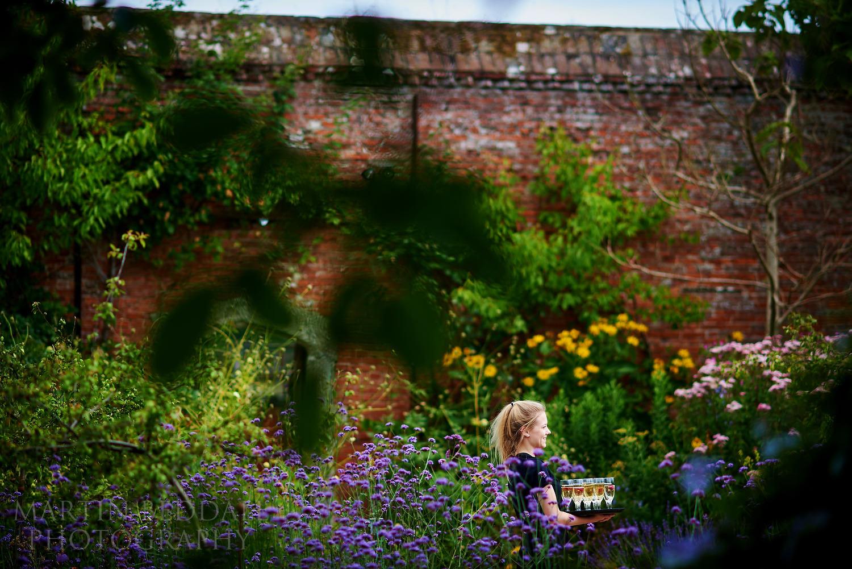 Walled garden Cowdray wedding venue