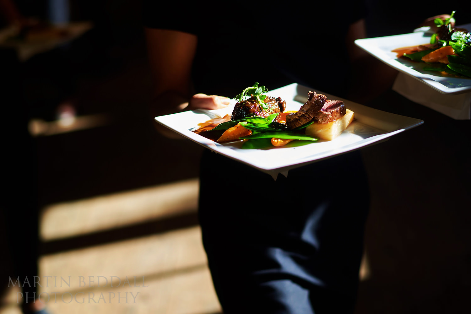 wedding food at the walled garden cowdray