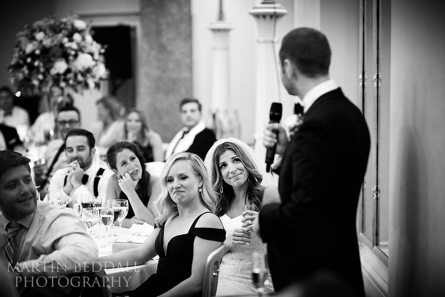 Lansdowne Club wedding speeches