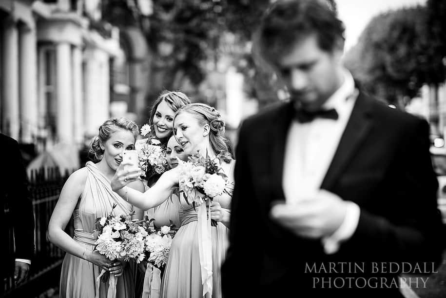 Bridesmaid selfie time