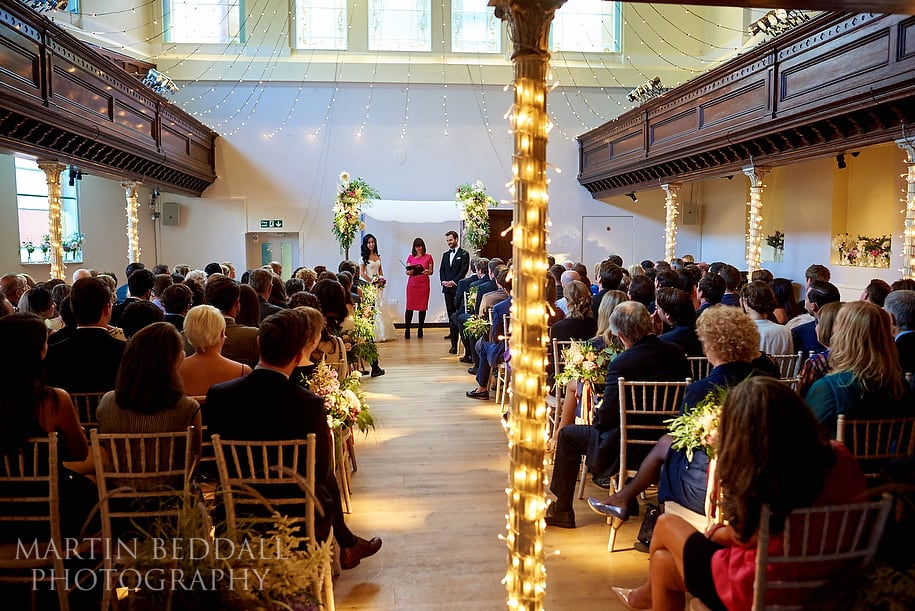 Wedding ceremony at The Amadeus Centre in London