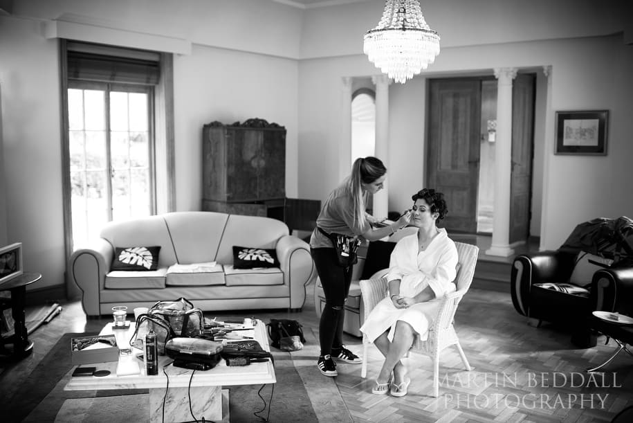 Bridal preps at Great Tangley manor