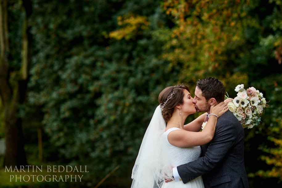 Bride and groom portrait at Gate St Barn
