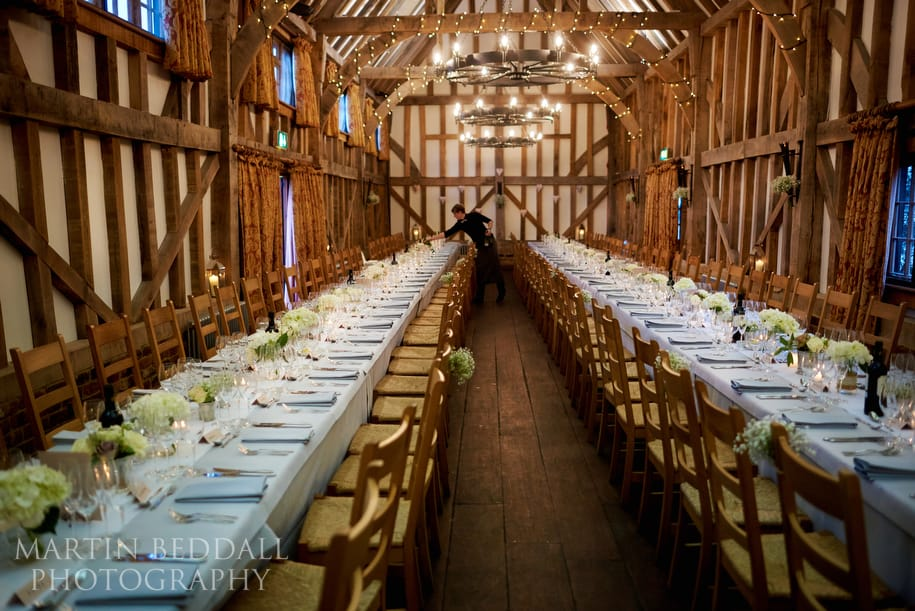 Gate Street Barn wedding meal