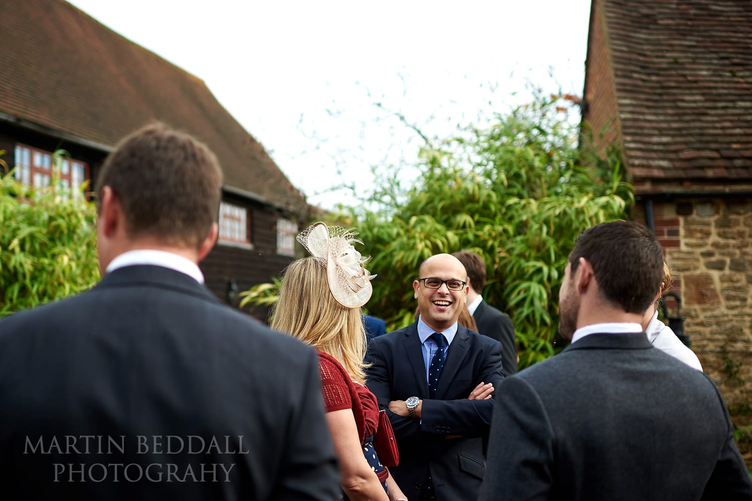 Guests gather at Gate St Barn