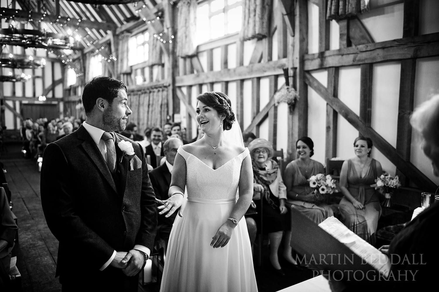 Humour at Gate St Barn wedding ceremony