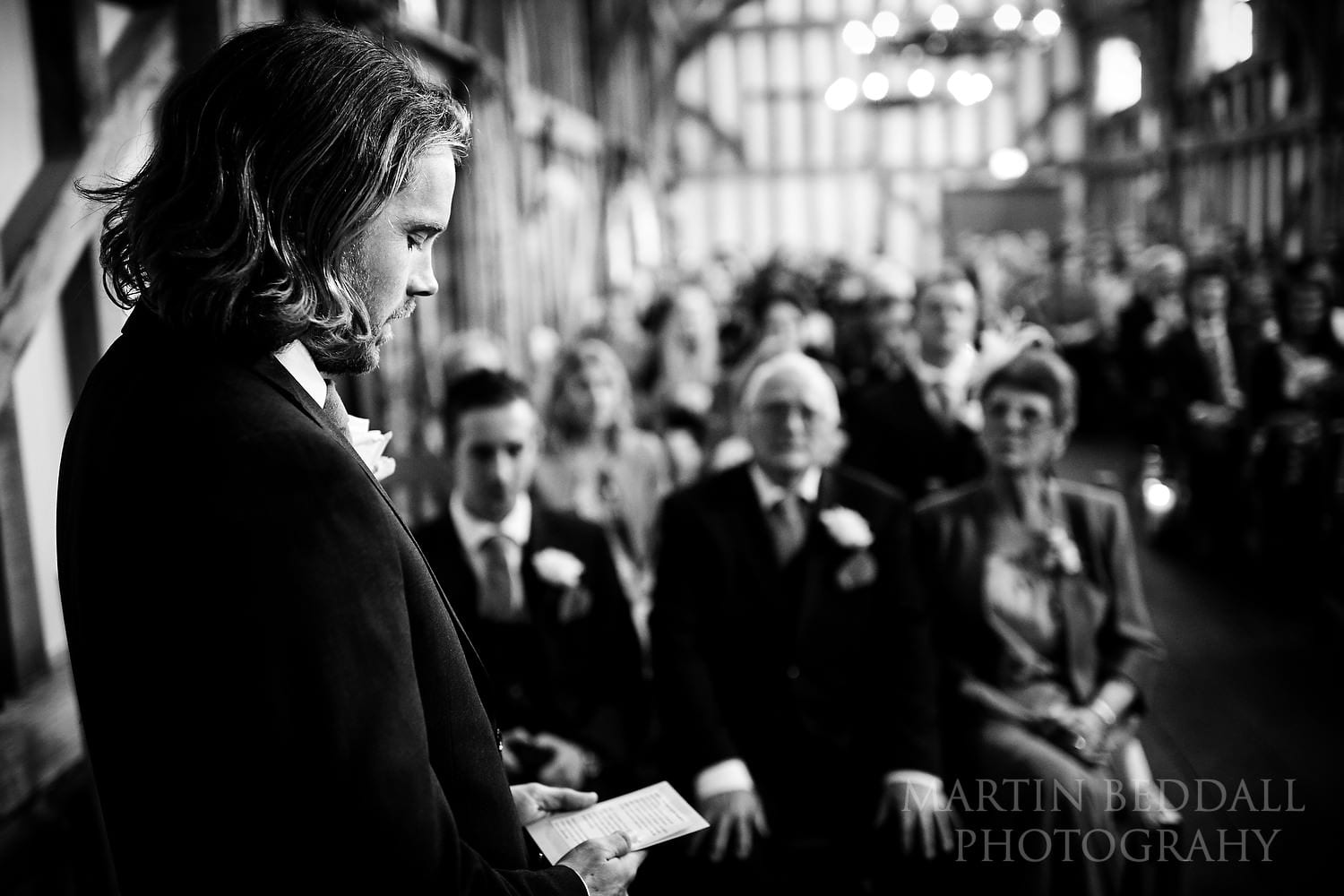Reading at the wedding ceremony