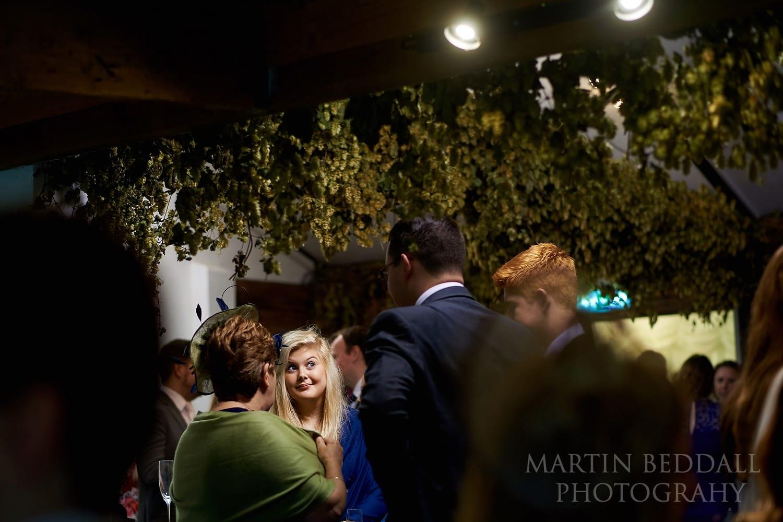 Inddoor wedding reception at Gate St Barn