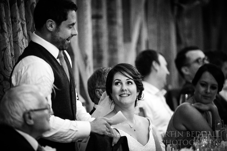 Wedding speeches at Gate St Barn