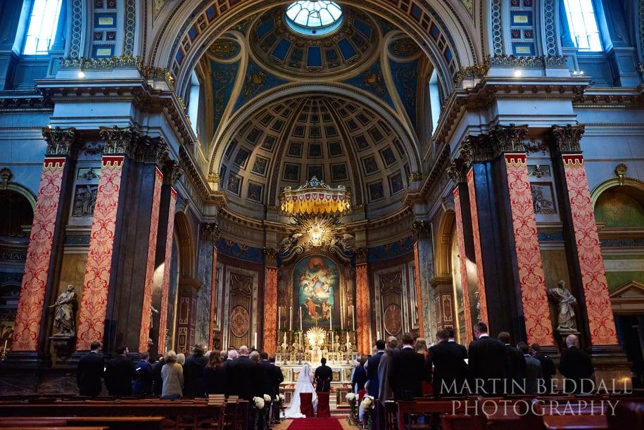 Brompton Oratory wedding ceremony