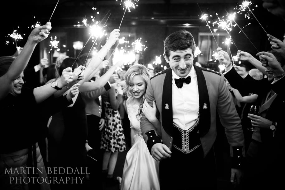 Wedding Sparklers at The In and Out Club