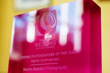 Wedding photography trophy