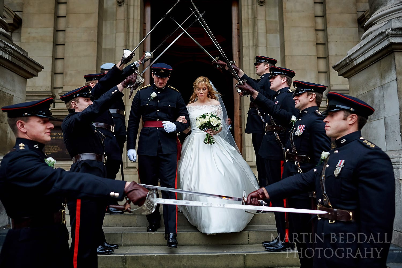 Military guard of honour at Brompton Oratory
