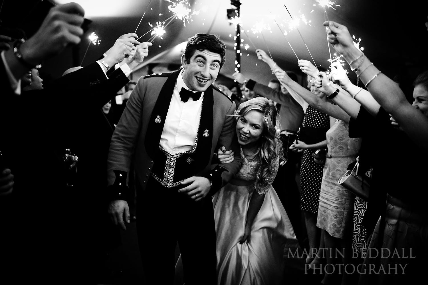 Sparklers at In and Out Club wedding