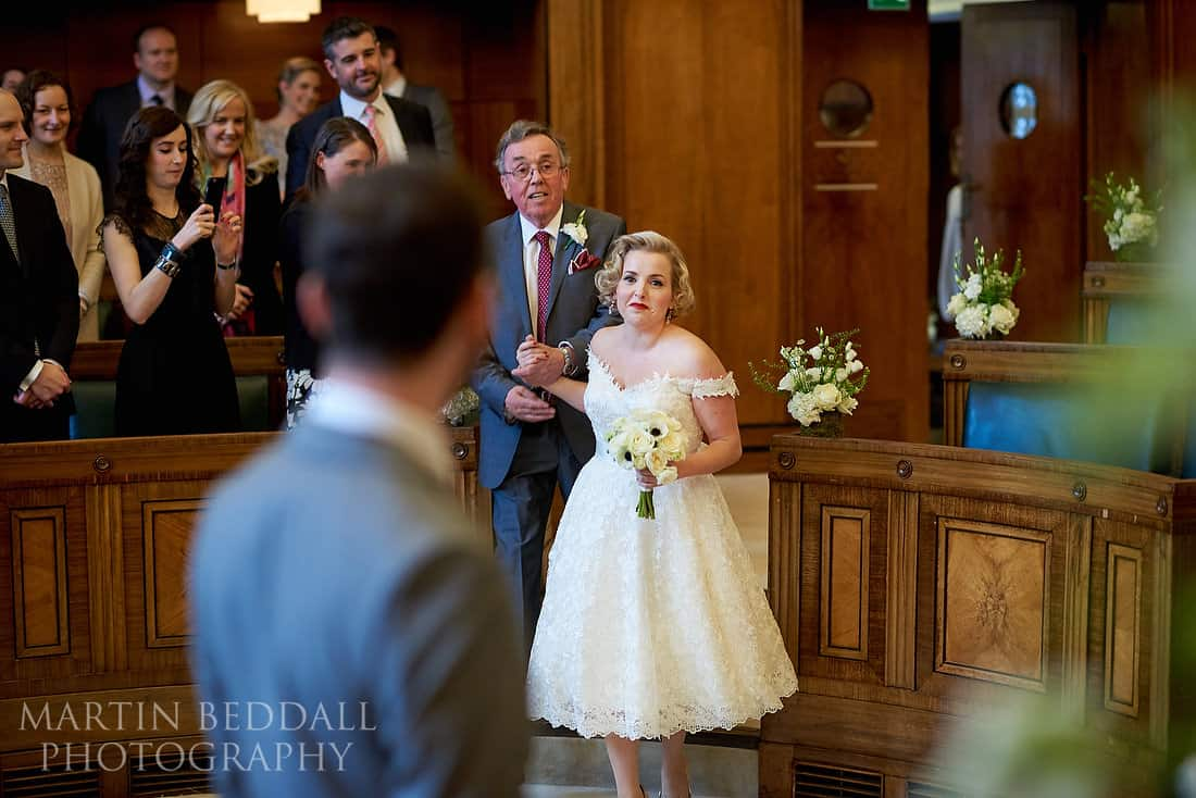 Town House Hotel wedding ceremony