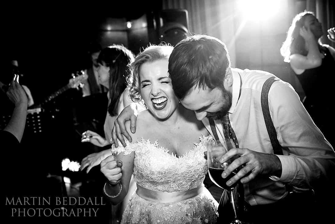 Dancing at Town Hall hotel wedding