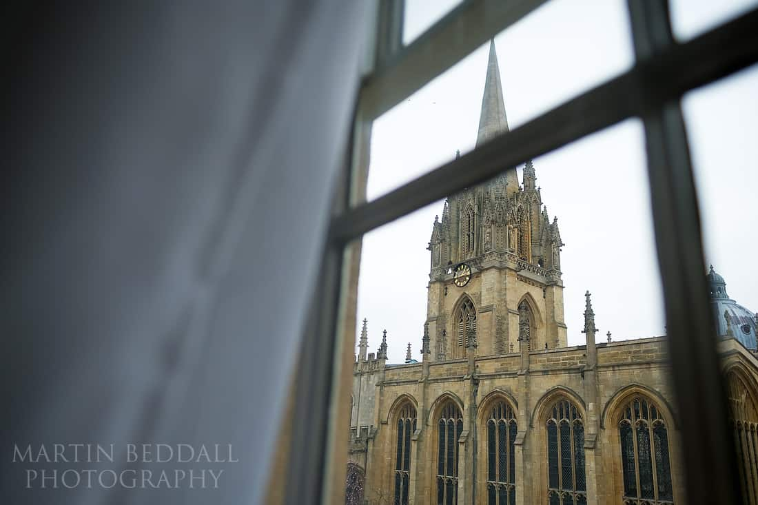 Oxford University church wedding