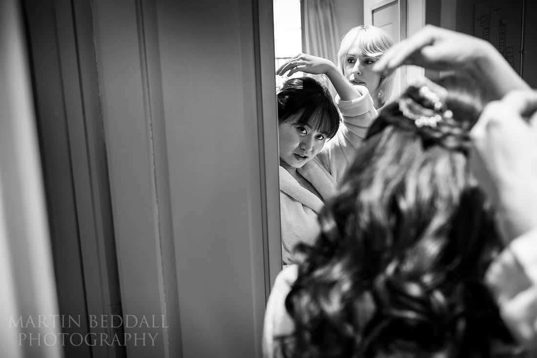 Bride discusses her hair