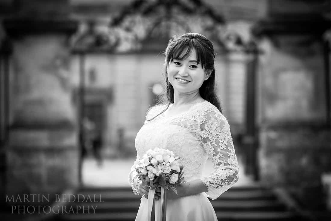 Portrait of the bride in Oxford