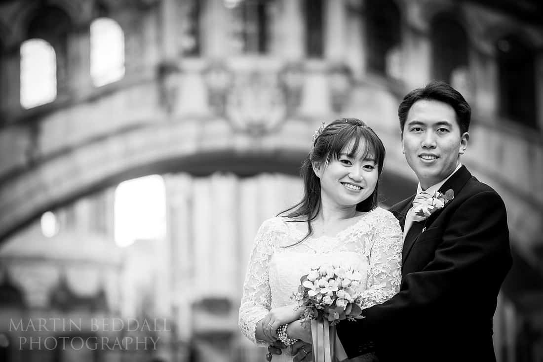 Oxford bride and groom portrait