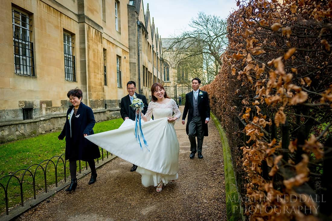 Bridal party in Oxford
