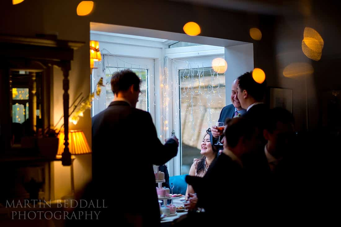 Wedding guests at The Folly restaurant in Oxford