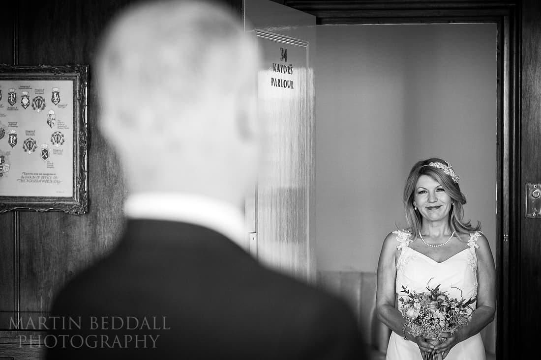 Bride enters the Mayor's parlour