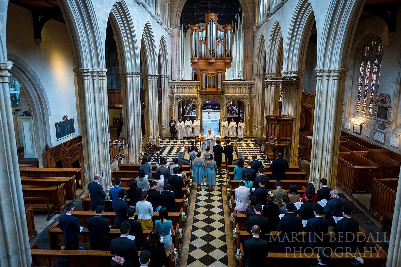 Oxford University Church wedding