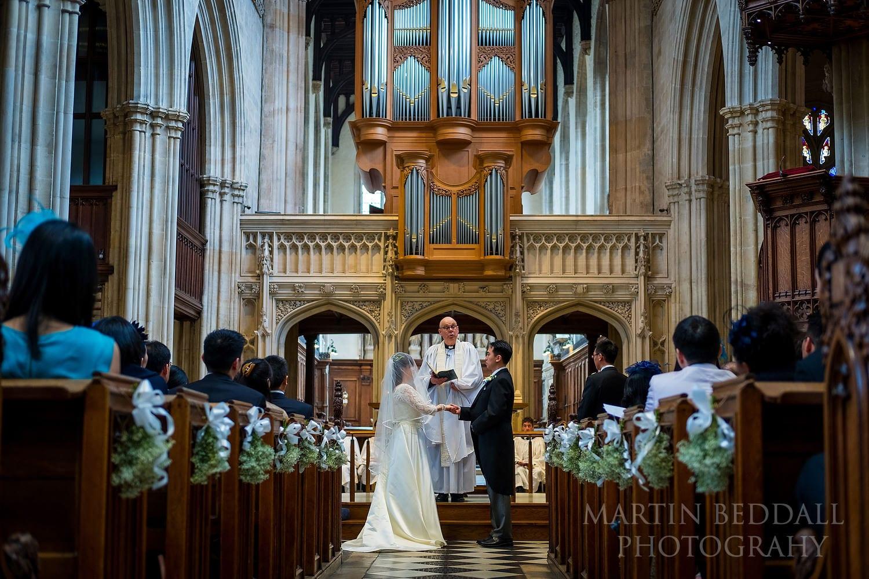Oxford University Church wedding ceremony