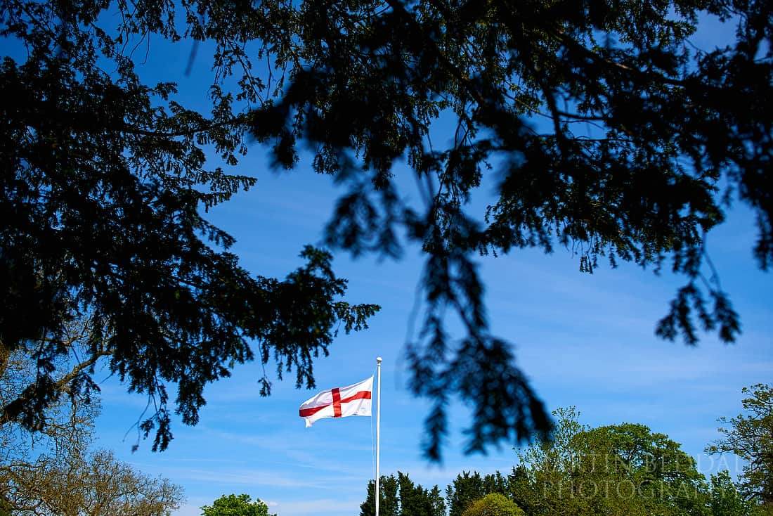 St George's flag at Northbrook Park