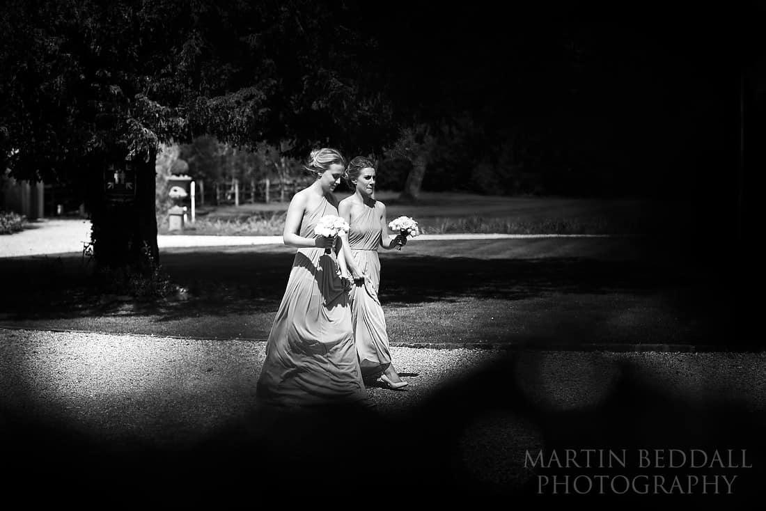bride's sisters arrive