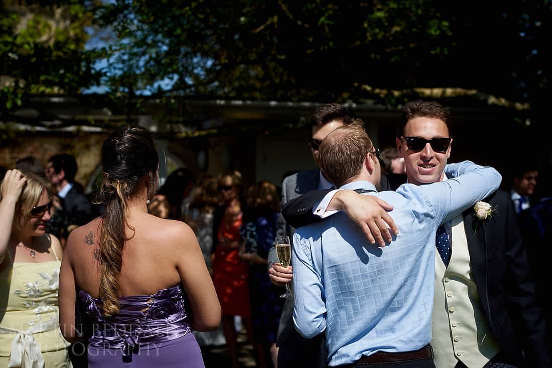 hug for the groom