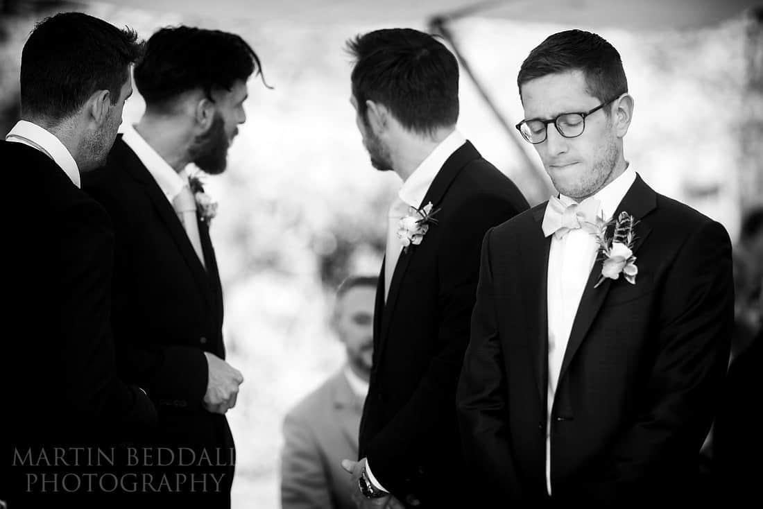 apprehensive groom