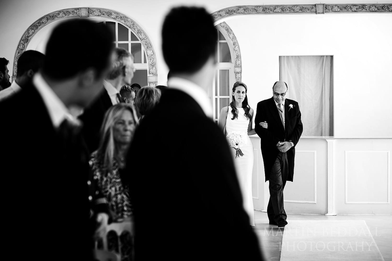 Entrance of the bride at Northbrook Park wedding