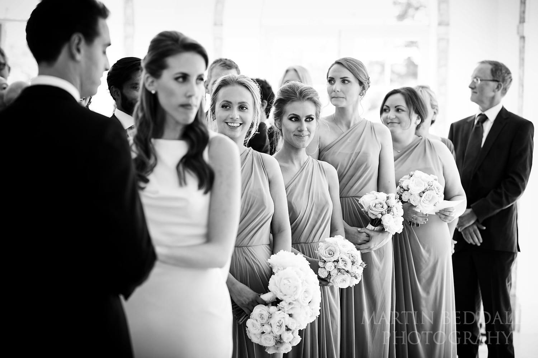 Bridesmaids at Northbrook Park wedding