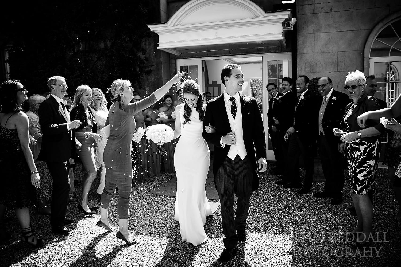 Confetti at Northbrook Park wedding