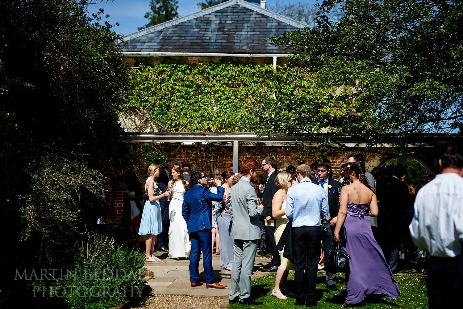 Reception in the sunshine at Northbrook Park