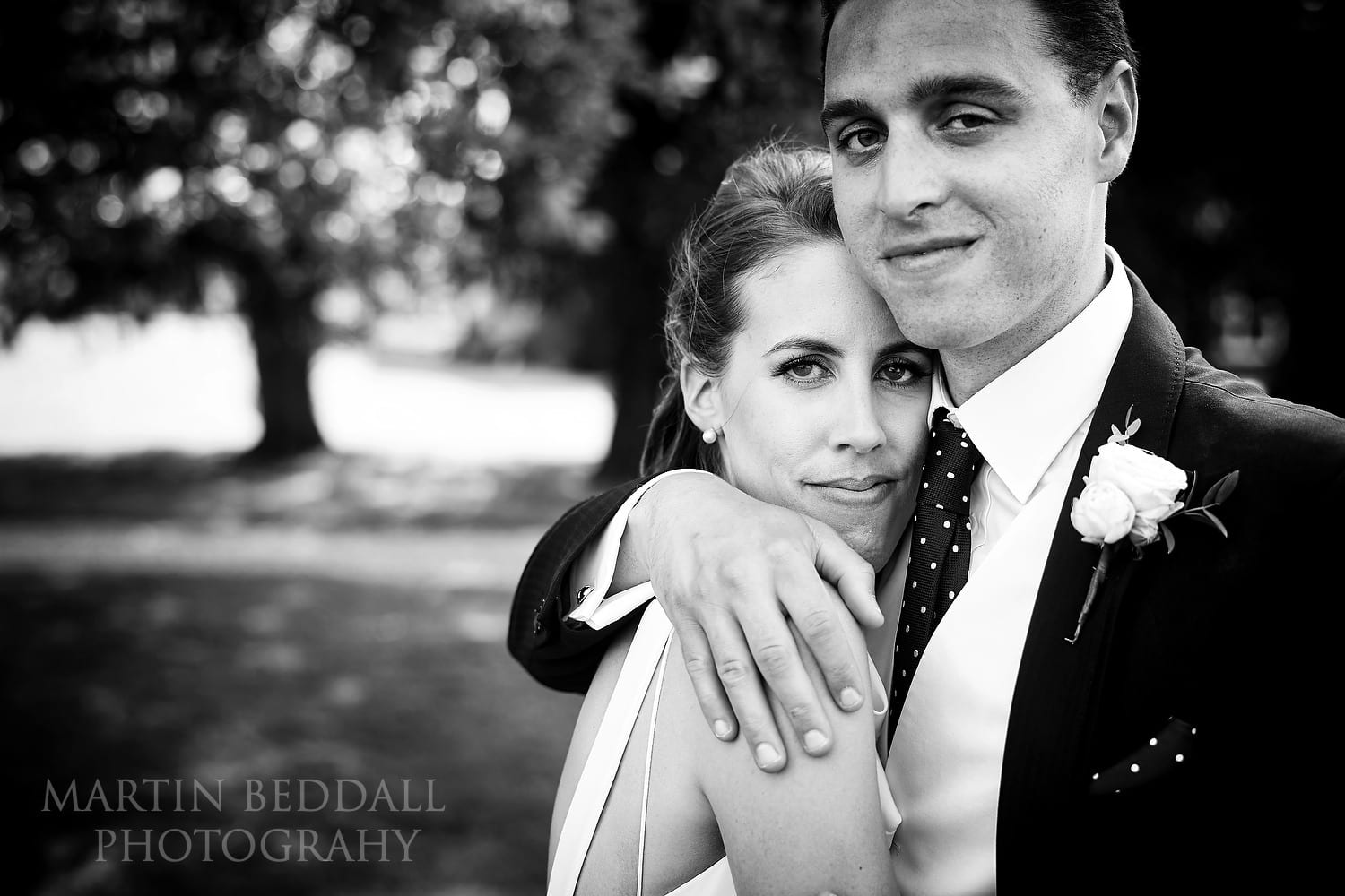 Bride and groom at Northbrook Park