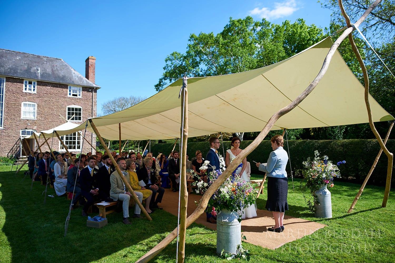 Outdoor Dewsall Court Wedding