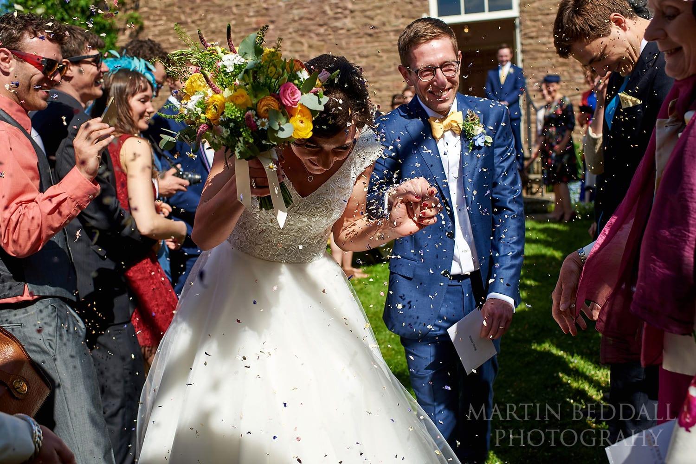 Dewsall Court Wedding confetti