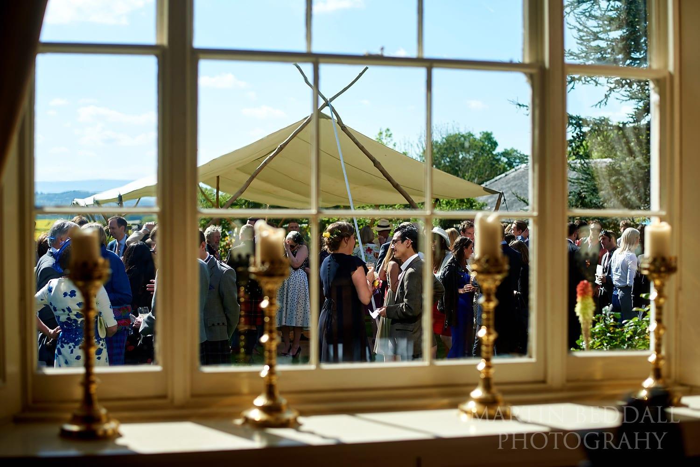 Dewsall Court Wedding reception
