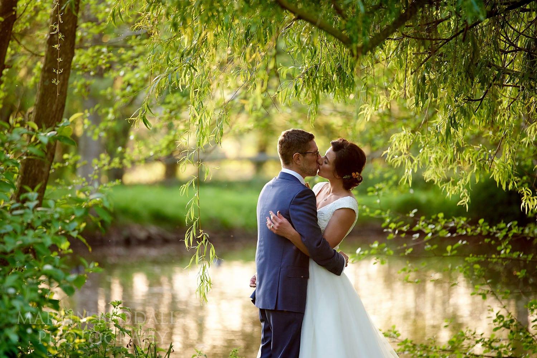 Couple portrait at Dewsall Court Wedding