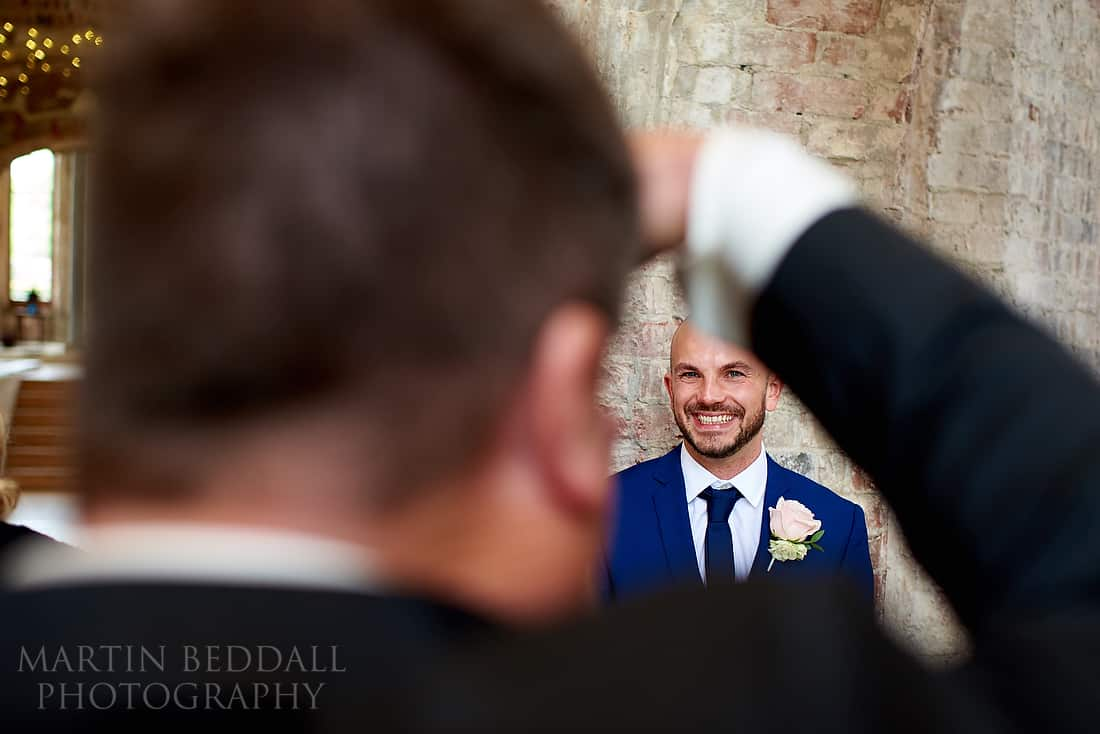 Photographing the groom