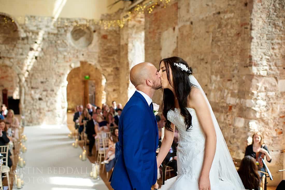 Lulworth castle wedding ceremony