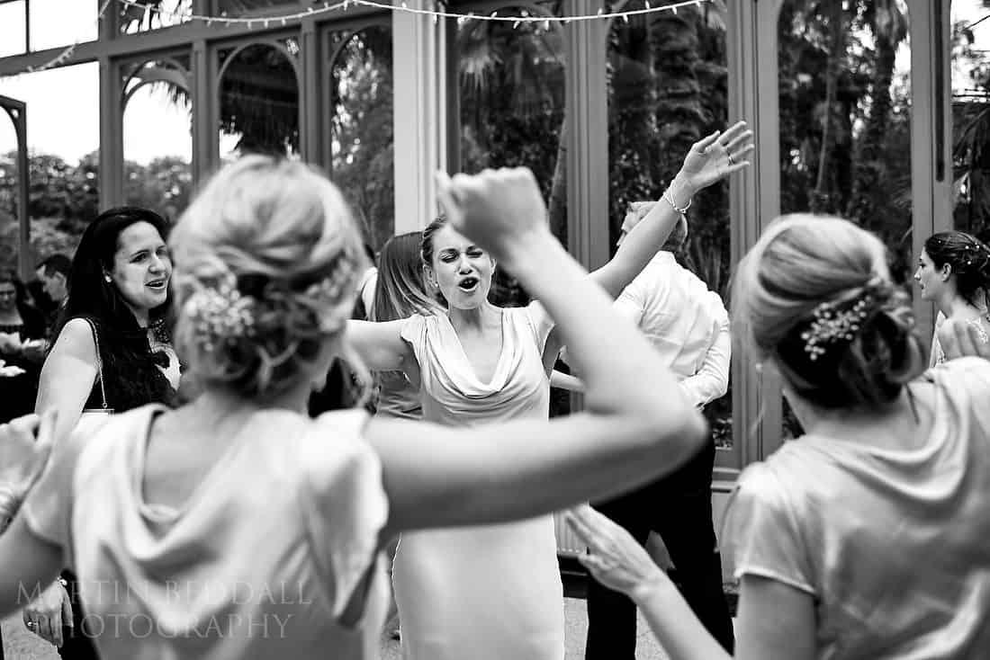Dancing bridesmaids