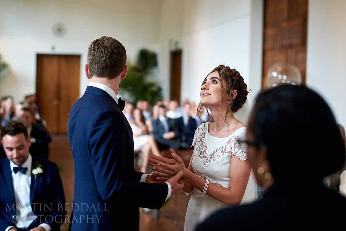 bride gets emotional