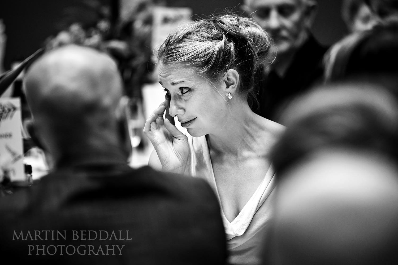 Tears at wedding speeches