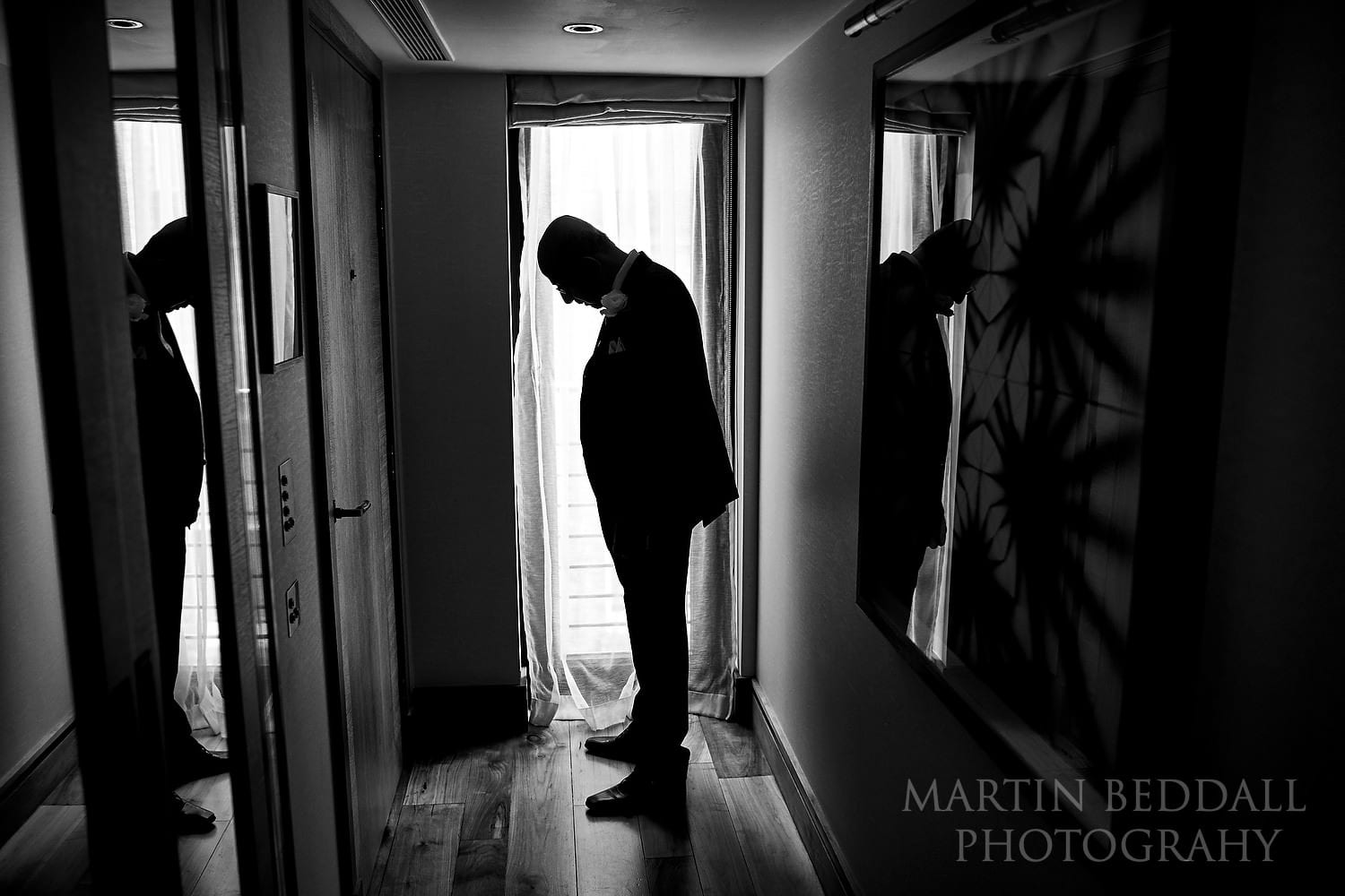 Bride's father waiting