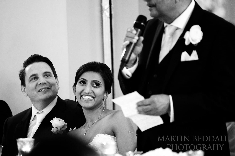 Wedding speeches at the Lansdowne Club